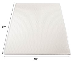 "48"" x 72"" High Pile Carpet Rectangular Chair Mat w/Beveled Edges"