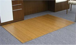 "48"" x 72"" Rectangular Roll-Up Bamboo Chair Mats"
