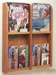4 Magazine/8 Brochure Pocket Rack