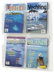 4 Magazine Pocket  Acrylic Display Rack