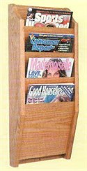 4 Magazine Pocket Wall Rack