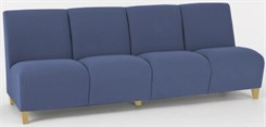 4 Seat Armless Sofa in Standard Fabric or Vinyl