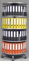 4-Tier Binder Carousel