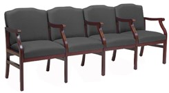 4-Seats w/Armrests in Upgrade Fabric or Healthcare Vinyl