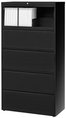 "30""W 5-Drawer Steel Lateral File"