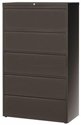 "36""W 5-Drawer Steel Lateral File"
