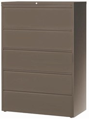 "42""W 5-Drawer Steel Lateral File"