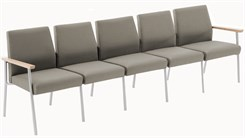 Mystic 5 Seat Sofa in Upgrade Fabric or Healthcare Vinyl