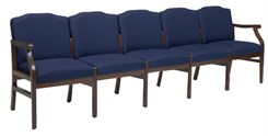 5-Seat Loveseat in Standard Fabric or Vinyl