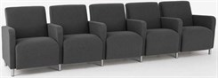5 Seats w/ Center Arms in Standard Fabric or Vinyl