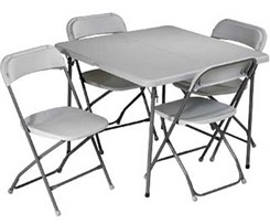 5-Piece Folding Table & Chair Set