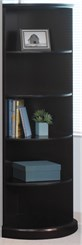 5-Shelf Quarter-Round Bookcase
