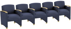 5 Seats w/Center Arms in Standard Fabric or Vinyl