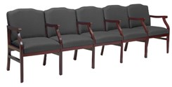 5-Seats w/Armrests in Upgrade Fabric or Healthcare Vinyl