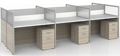 """43""""H 6-Person Bench Workstation"""