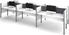 White 6-Person Cubicle Workstation