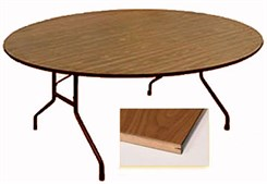 "60"" Diameter Round Heavy-Duty Plywoood Core Folding Table"