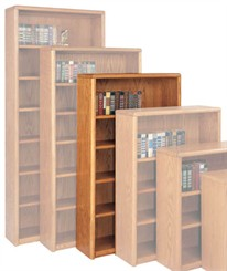 "60""H Oak Bookcase"