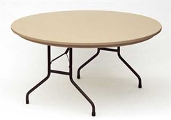 "60"" Round Resin Folding Table"