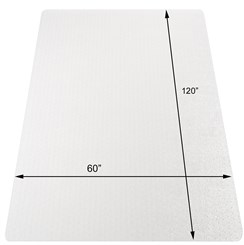 "60"" x 120"" Medium Pile Carpet Chair Mat"