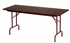 "30"" x 60"", 5/8"" Thick Melamine Folding Table"