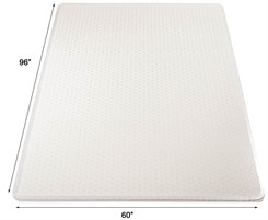 "60"" x 96"" Rectangular  Execumat .25"" Thick Studded Vinyl Mat w/Beveled Edge"
