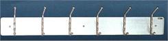 """36"""" 6 Hook Stainless Steel Wall Rack"""