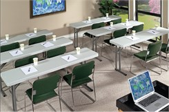"700 lb. Capacity Resin Folding Seminar Tables - 18"" x 61"" Resin Folding Table - Other Sizes Available."