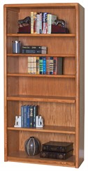 "70""H Oak Bookcase"
