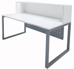 "TrendSpaces White Reception Desk - 71""W"