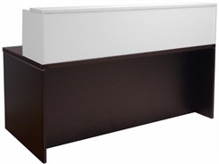 "Mocha/White 71"" x 36"" Rectangular Reception Desk"