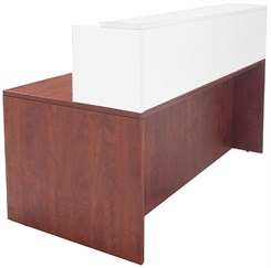 "Cherry/White 71""x36"" Rectangular Reception Desk"
