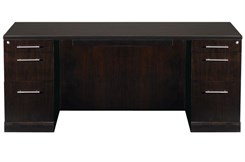 "72""W Double Pedestal Desk with Straight Front - PBF/PBF"