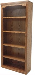 "72""H Traditional Oak Bookcase"