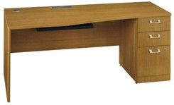 "72"" Right Desk w/ Pedestal"