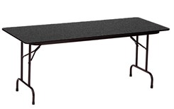 "30"" x 72"", 5/8"" Thick Melamine Folding Table"