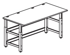 "72""W x 36""D Adjustable Table with Worksurface"