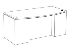 """Transitions Custom 72"""" x 42"""" Office Desk"""
