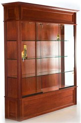 "75""W Wood Veneer Traditional Display Case"