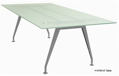 8� Frosted Glass Conference Table