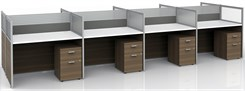 """43""""H 8-Person Bench Workstation"""