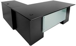 """Prestige Custom 84"""" L-Desk, Right Return"""