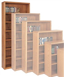 "84""H Oak Bookcase"
