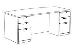 "84"" x 42"" Custom Desk with Drawers"