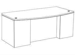 "Transitions Custom 84"" x 42"" Office Desk"