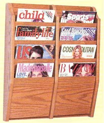 8 Magazine Pocket Wall Rack