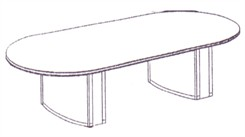 8' Race Track Conference Table
