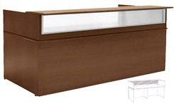 8' Wide Custom Linear Reception Desk