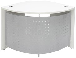 White 90 Degree Corner Desk