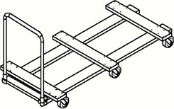 "96"" Flat Stacking Table Dolly"